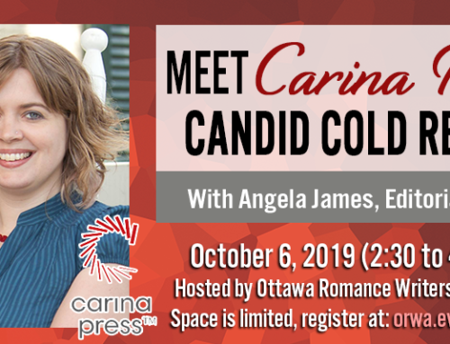 October 2019: Meet Carina Press with Angela James